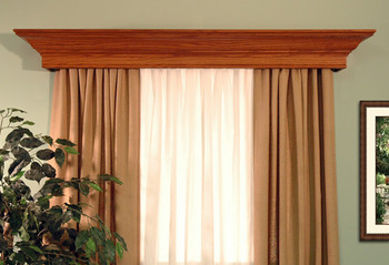 The New Haven window cornice will fit any decor