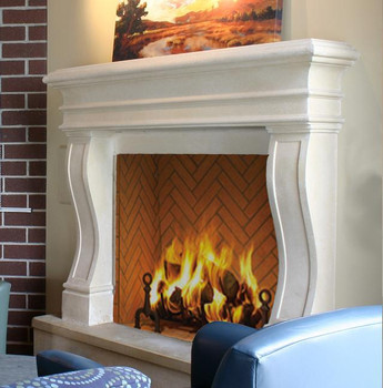 The Avant thin cast modern stone mantel