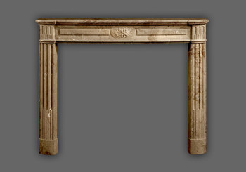 Classical French style marble mantel.