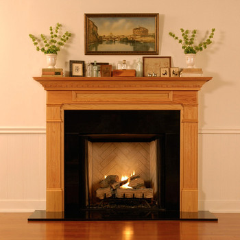 Absolute Black Granite fireplace surrounds go well with almost any color or mantel style.