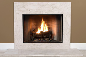 Crema Marfil Fireplace Facing | Marble Surround
