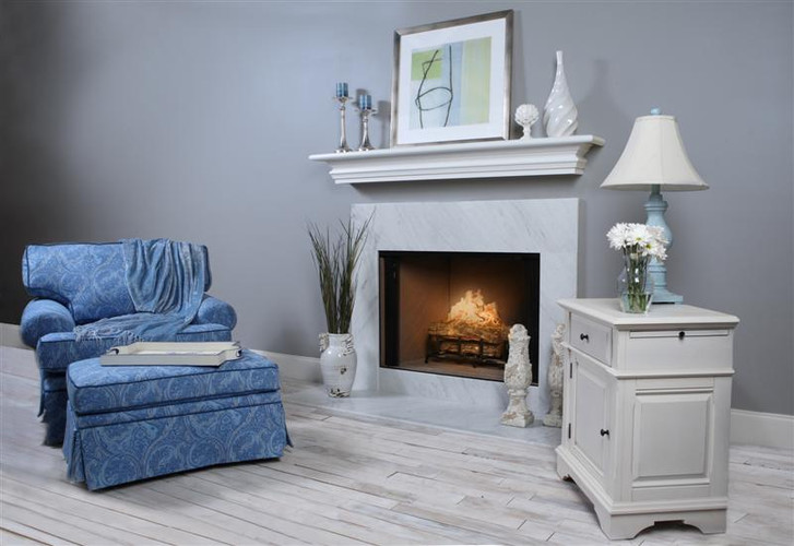Bianco Venatino White Italian Marble Fireplace Surround Facing
