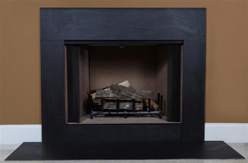Black Slate fireplace facing.