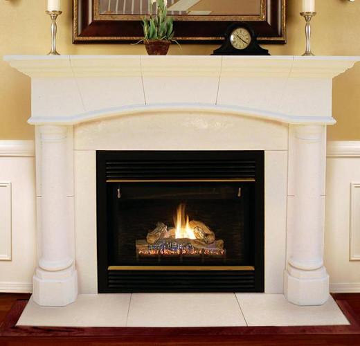 Stone Fireplace Mantel | Barrington Arch | Lightweight