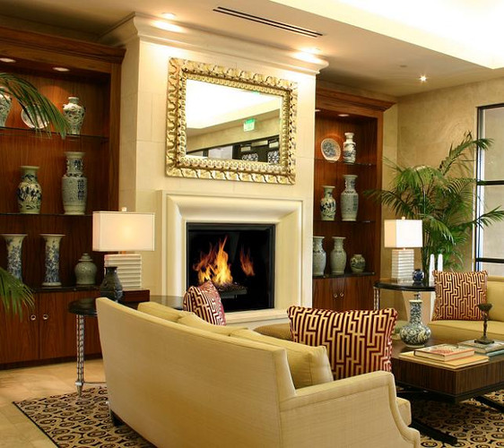 Conemporary Bolection-style mantel surround in your choice of four limestone colors
