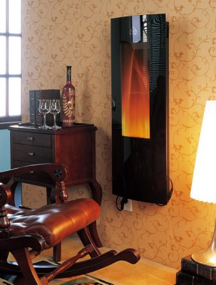 16 x 41  Electric Fireplace mounts on flat wall or in a corner