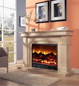 New Rose Beige with simulation of SD33 Electric Fireplace