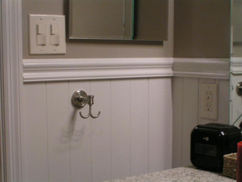 "Classic Wainscoting Plank Kit # WK 29 / from 34 to 38"" Tall"