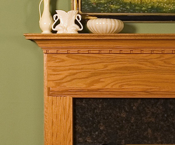 The details of the Warren Mantel (not in warm chestnut)