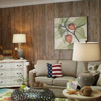 Rustic Weathered Cedar Paneling ... Cape Cod styling