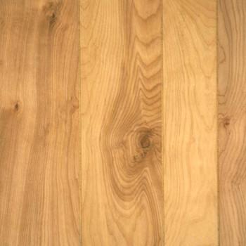 Natural birch wall paneling.