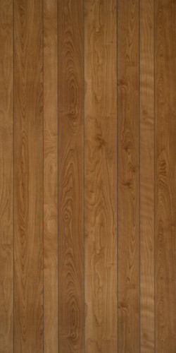 New Spirit Birch Paneling with 9-random grooves, with contemporary light brown hues. 4x8 sheet