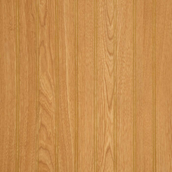 "Imperial oak 2"" beaded wall paneling."