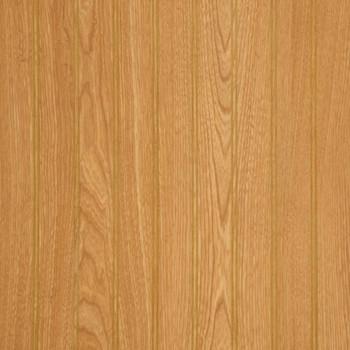 "Imperial oak 2"" beaded wall paneling."