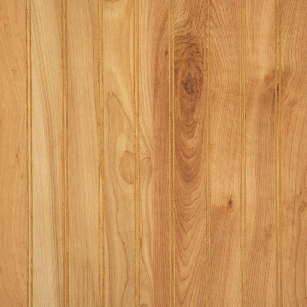 Natural Birch Beadboard Paneling Woodgrain Finish Panels