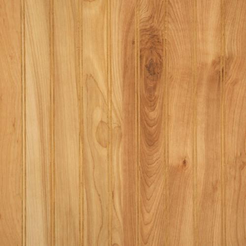 Natural birch beaded wall paneling. 4 x 8 sheets