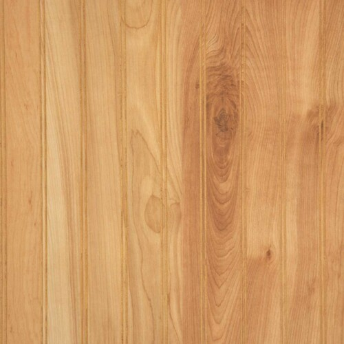 Detailed image of Natural Birch laminated wainscot paneling