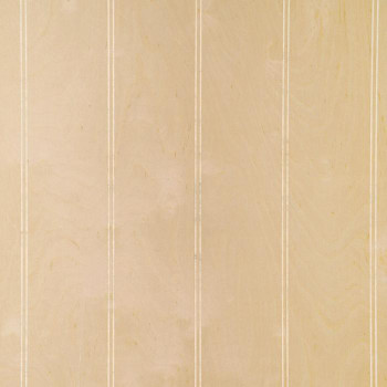Unfinished beaded birch veneer paneling, as supplied, ready for you to finish with paint or stain