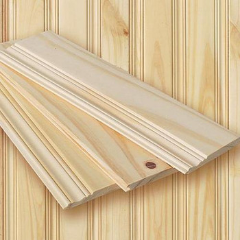 Pickwick pattern tongue and groove knotty pine planking