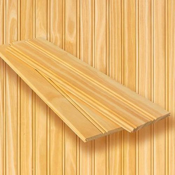 Clear Pine Beaded tongue and groove planking - 8 running feet x 8 feet high
