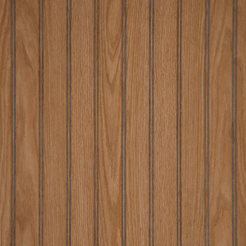 Federal Oak, medium brown beadboard paneling