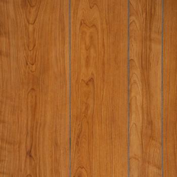 Williamsburg Cherry Paneling.  A medium brown random plank, grooved paneling