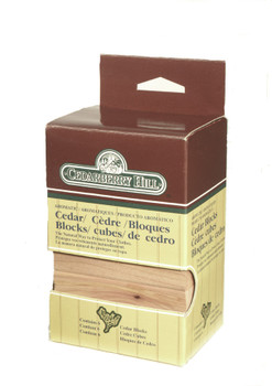 Aromatic cedar blocks for convenient natural pest control