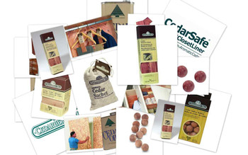 An assortment of our best selling natural aromatic cedar accessories