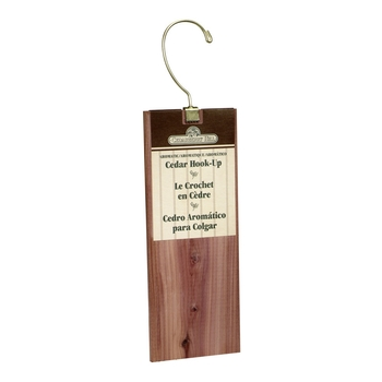 Aromatic Cedar Hanger Hook-ups, a natural pest control also freshens your closet