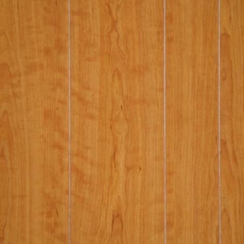Light autumn cherry wood paneling random plank panels