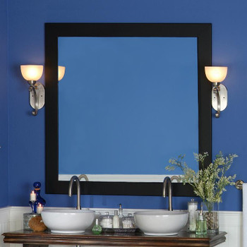 "Newburg Black 4"" Mirror Frame by NewEnglandClassic"