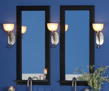 "Anderson 3"" Black Mirror Frame with 3"" deep convenience shelf"