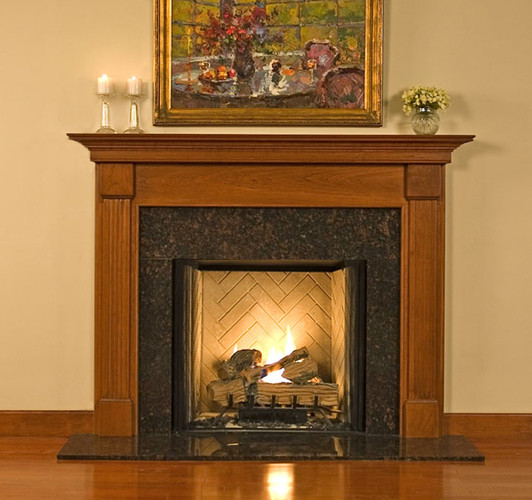 The Florence custom fireplace will compliment any room or office.