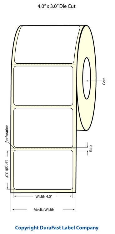 Epson TM-C3500 4x3 High Gloss Label Roll | Epson Media | 811020