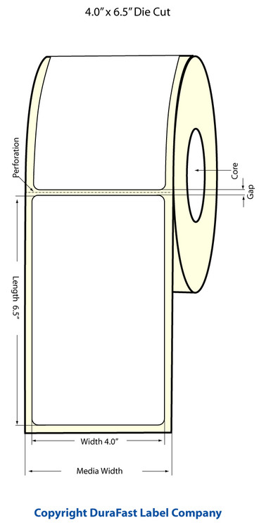 Epson TM-C3500 4x6.5 High Gloss Label Roll | Epson Media | 811023