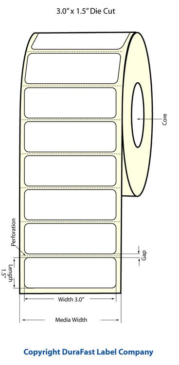Epson TM-C3500 3x1.5 Matte Labels | Epson Media | 812014