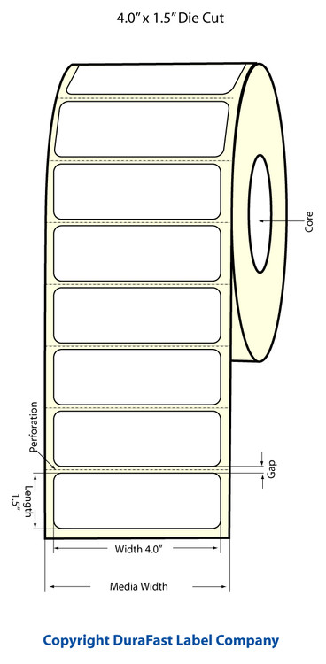 Epson TM-C3500 4x1.5 Matte Labels | Epson Media | 812018