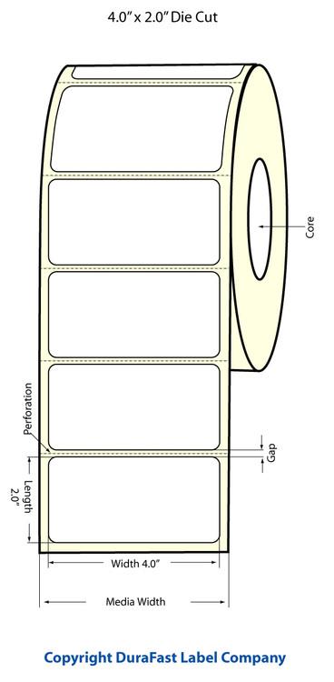 Epson TM-C3500 4x2 Matte Labels | Epson Media | 812019