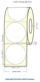 "Primera LX900 1.375"" Circle High Gloss Labels"