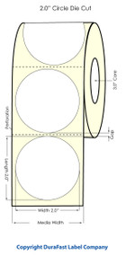 "Primera LX900 2"" Circle High Gloss Labels"