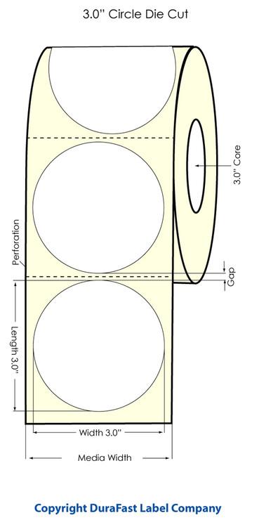 "Primera LX900 3"" Circle High Gloss Labels"