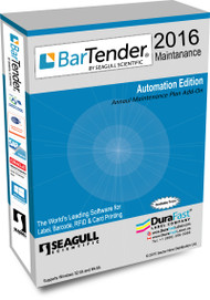 BarTender 2016 Automation Maintenance Plan  with 10 Printer License