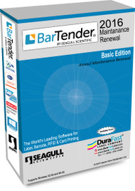 BarTender 2016 Basic Maintenance Renewal with Single Computer License