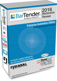 BarTender 2016 Enterprise Automation Maintenance Renewal  with 5 Printer License