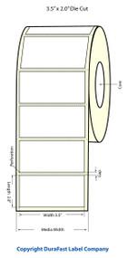 LX900 3.5x2 inch Matte Labels 1100/Roll