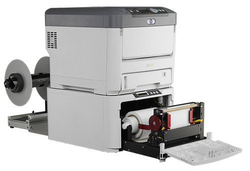 Afinia R635 laser color label press can print color product labels and GHS BS5609 compliant labels on demand