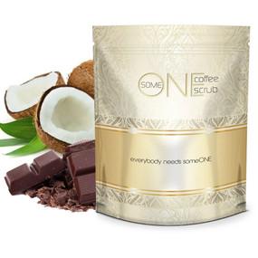 Cacao Coconut Kona Anti Cellulite Coffee Scrub with Dead Sea Salts - 24oz - All Natural