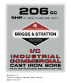 Briggs & Stratton 206 CC Engine Decal