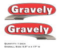 Gravely Oval Hood Decals