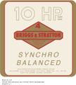 Briggs and Stratton Synchro Balanced